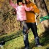 Gibbon-Slacklines-Fun-Line-girl-learns-with-father--how-to-slackline