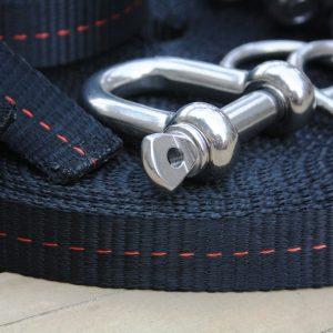 Australia-Primitive slackline kit shackle pulley system