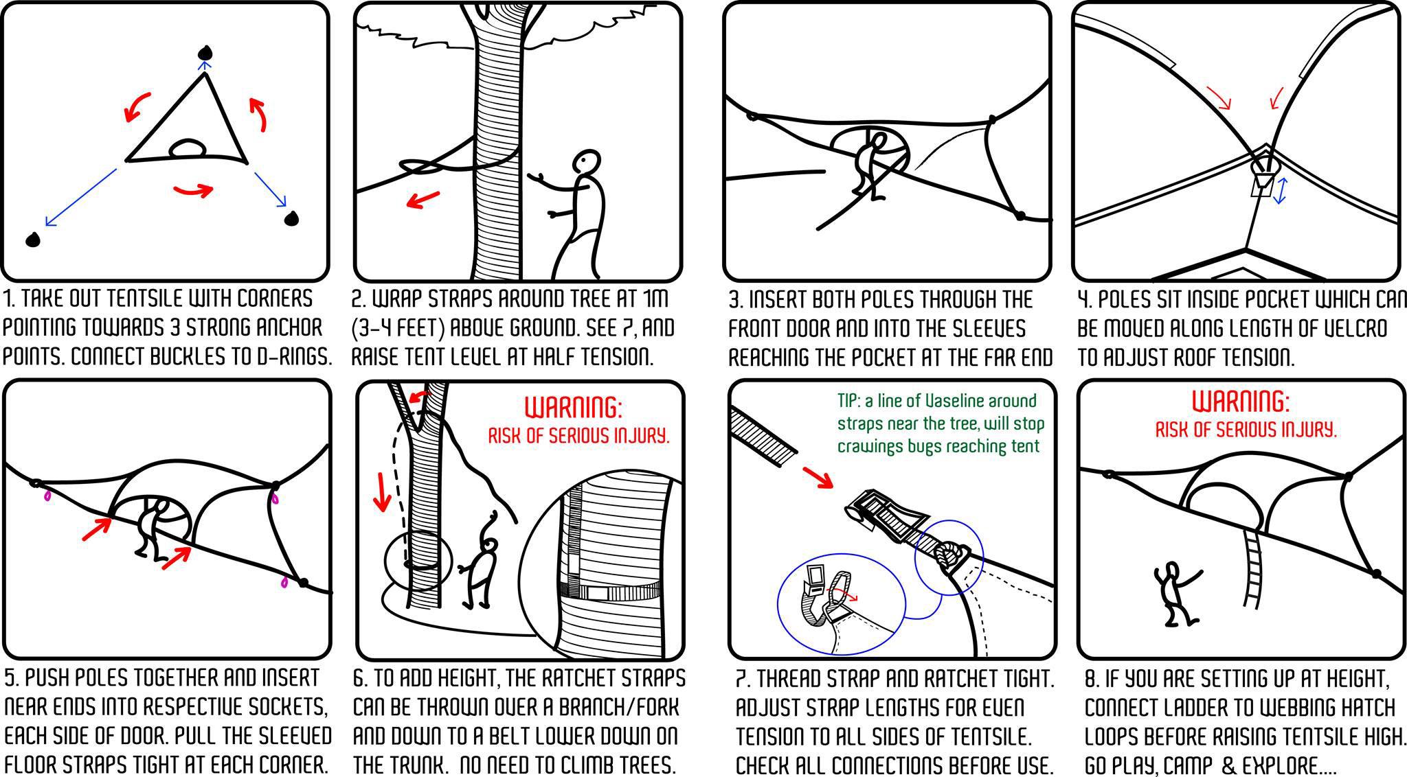 How To Setup Tentsile Tree Tent Instructions Slackline Shop Australia