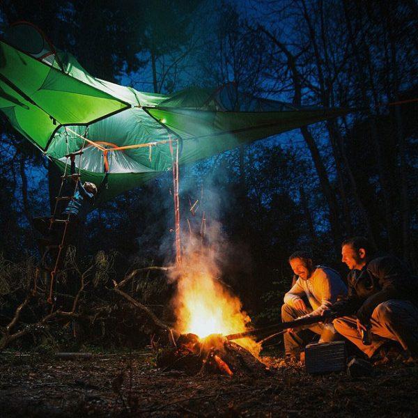 tentsile-tent-friends-chilling-bonfire-tree-tent